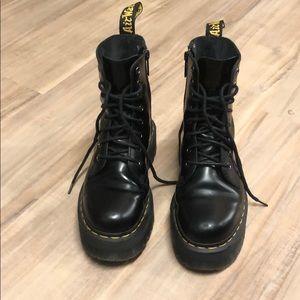 Jadon Smooth Leather Platform Dr. Marten B…
